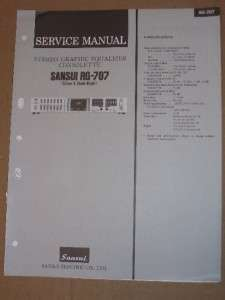 Sansui Service/Repair Manual~RG 707 Graphic Equalizer