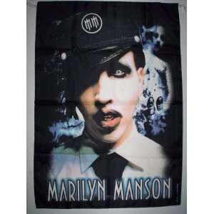 MARILYN MANSON 5x3 Feet Cloth Textile Fabric Poster