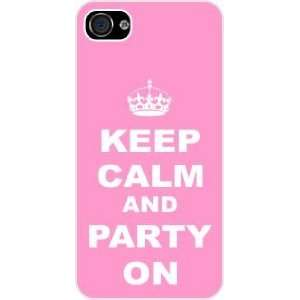Rikki KnightTM Keep Calm and Party on Light Pink Color White