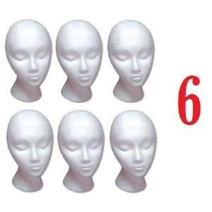 Styrofoam Model Heads / Hat Wig Foam Mannequin / Half Dozen Jumbo Pack
