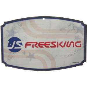 U.S. Freeskiing 11 x 17 Wood Sign: Sports & Outdoors