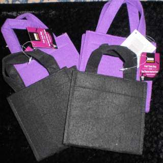 NEW felt craft party bags PURPLE BLACK sew decorate kids fun