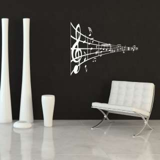 COOL MUSICAL NOTES WALL STICKER DECAL ART MURAL