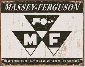 Massey Ferguson Tractor Logo Barn Garage Retro Tin Sign