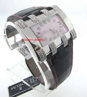 CORUM HORIZONTAL 18K WHITE GOLD LADIES DIAMOND WATCH