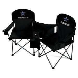 Dallas Cowboys NFL Deluxe Folding Conversation Arm Chair by Northpole