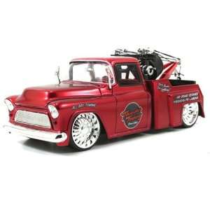 1955 Chevy Stepside Tow Truck 124 Scale (Red) Toys