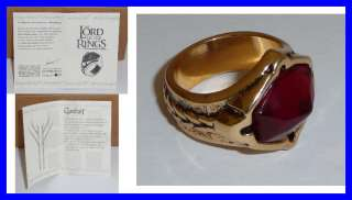 LOTR Lord Rings GANDALF RING Of NARYA Original OFFICIAL With