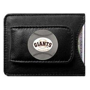 San Francisco Giants Black Leather Money Clip with