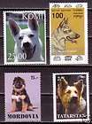 German Shepherd Dogs 3 different stamps