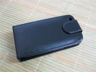 Black Leather Flip Case Cover For apple iPhone 4 4th 4G