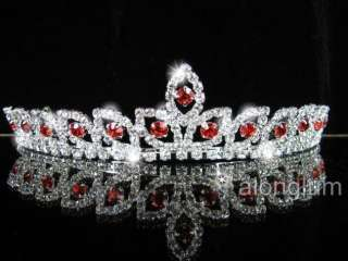 A275 8 Red Wedding Bridal Bridesmaid Swarovski Crystal Rhinestone Prom
