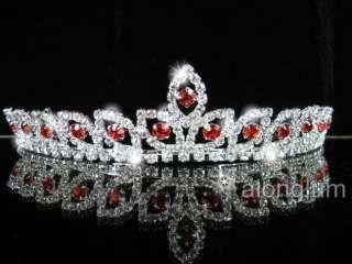 A275 8 Red Wedding Bridal Bridesmaid Swarovski Crystal Rhinestone Prom