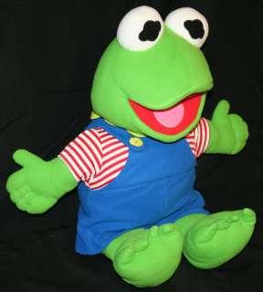 jim henson kermit the frog green muppet babies stuffed animal plush