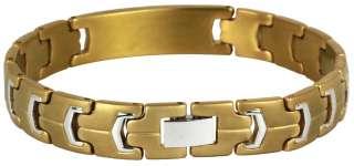 Gold Finished Stainless Steel Engravable Medical Alert Bracelet
