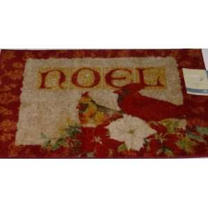 Accent Rug Noel Christmas Mat Non Skid Back 30x46