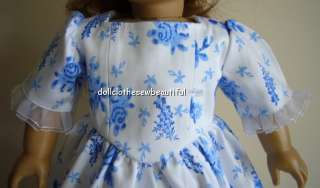DOLL CLOTHES fits American Girl Felicity Gown & Mop Cap