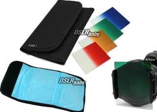 Gradual Red Orange Green Blue Color Conversion Filter Kit Set for