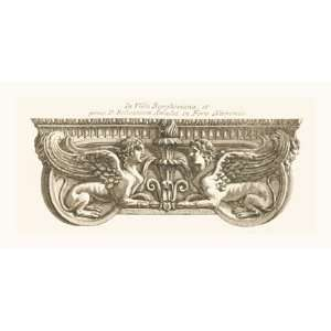 Winged Lionesses by Giovanni Battista Piranesi 24x12