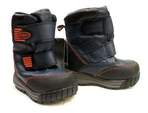Boys ATHLETECH toddler navy velcro straps boots sz 5