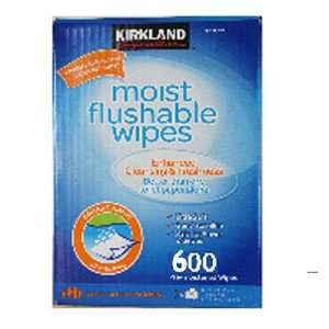 Kirkland Signature Moist Flushable Wipes 600 Pre moistened