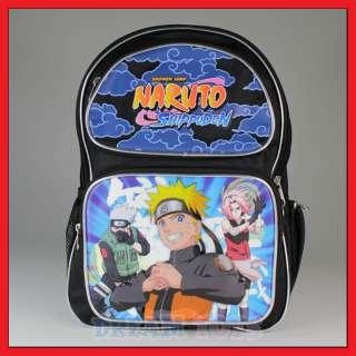 16 Naruto Backpack   Bag Book School Boys Shippuden
