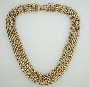 NAPIER Egyptian Revival Gold Tone Link Necklace 16
