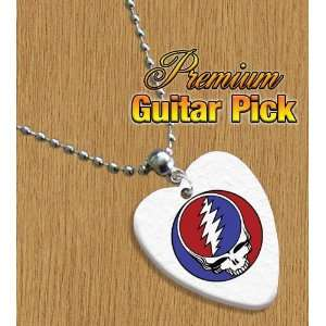 Grateful Dead Chain / Necklace Bass Guitar Pick Both Sides