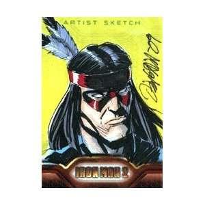 Iron Man 2   Color Sketch Card of Thunderbird by Ryan