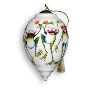 Groovers Hand Painted Glass Ornament
