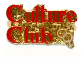Vintage Culture Club Boy George Music Group Collectors Pin Button