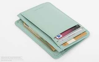 Mens & Womens Genuine Leather USEFUL Mini Card Wallet Black Brown Pink