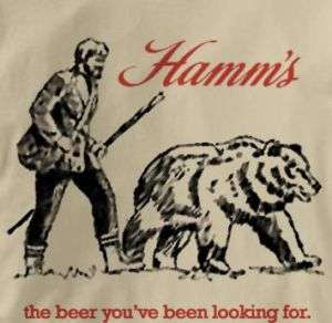 Hamms Beer Vintage Logo TAN T Shirt XL