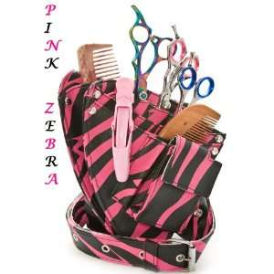 Ninja Mobile Hairdressing Pouch Funky Pink Zebra /Store All Your Tools
