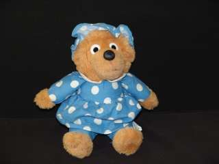 BEAR PLUSH BLUE POLKADOT DRESS MAMA MOTHER STUFFED ANIMAL
