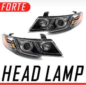 LED Head Light Assembly Module 2p For 09 10 11 Kia Forte Koup : Cerato