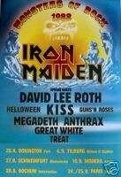 IRON MAIDEN CONCERT POSTER Monsters of Rock 1988 NEW