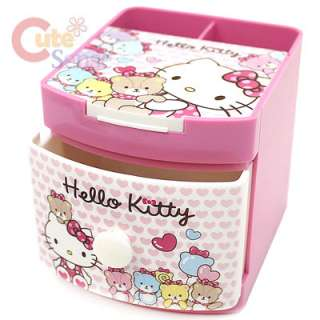 Sanrio Hello Kitty Face Pencil Case Cosmetic Organizer 4