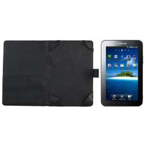 Samsung Galaxy Tab Leather Case Folio   Black