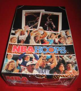 1991 92 NBA Hoops Series 1 Factory Sealed Box