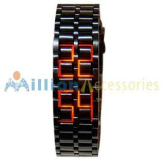 Red LED Digital Watch Lava Style mens ladies sports Fashion Wrist