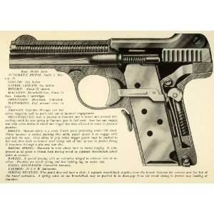 1948 Print .35 Smith Wesson Automatic Pistol Interior View