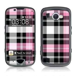 Pink Plaid Design Skin Decal Sticker for the Samsung Omnia