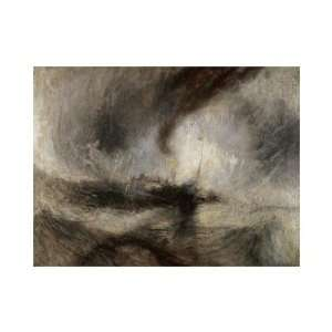 Joseph Mallord William Turner   Snow Storm At Sea Giclee