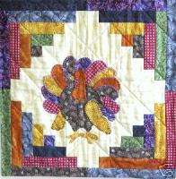Turkey Wall Hanging or Pillow Top Quilt Pattern