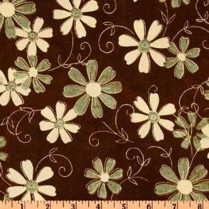 Grandmas House Floral Brown Fabric By The Yard Arts, Crafts & Sewing