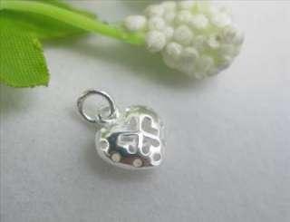 925 Sterling Silver Heart Charm Pendant SA346