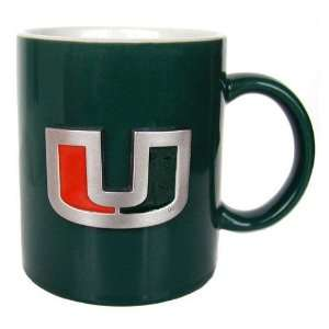 Miami Hurricanes NCAA 2 Tone Coffee Mug Sports & Outdoors