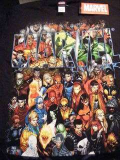 Hulk Iron Man Thing Group Shot T Shirt Marvel Comic New
