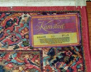 Vintage KARASTAN KIRMAN #717 Multi Panel Rug 2.10 x 5 Wool